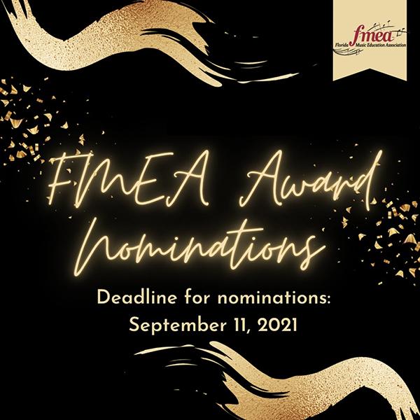FMEA Award Nominations Deadline September 11, 2021